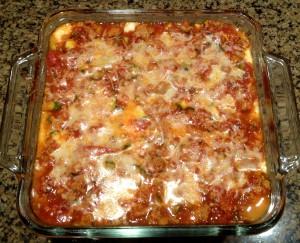 Spaghetti Squash Turkey Lasagna